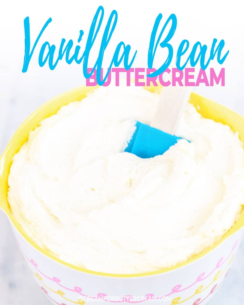 Favorite Vanilla Bean Buttercream Blog Title Graphic