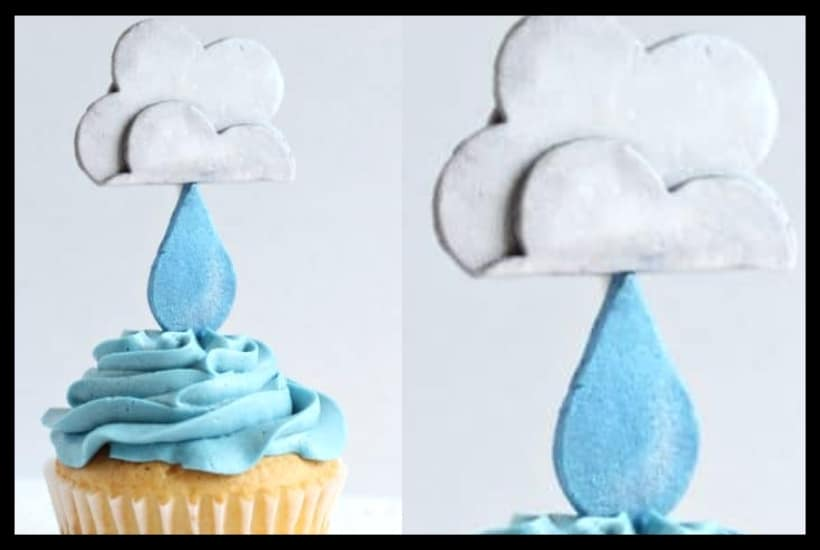 Rain Cloud Cupcake Topper Tutorial Featured Image