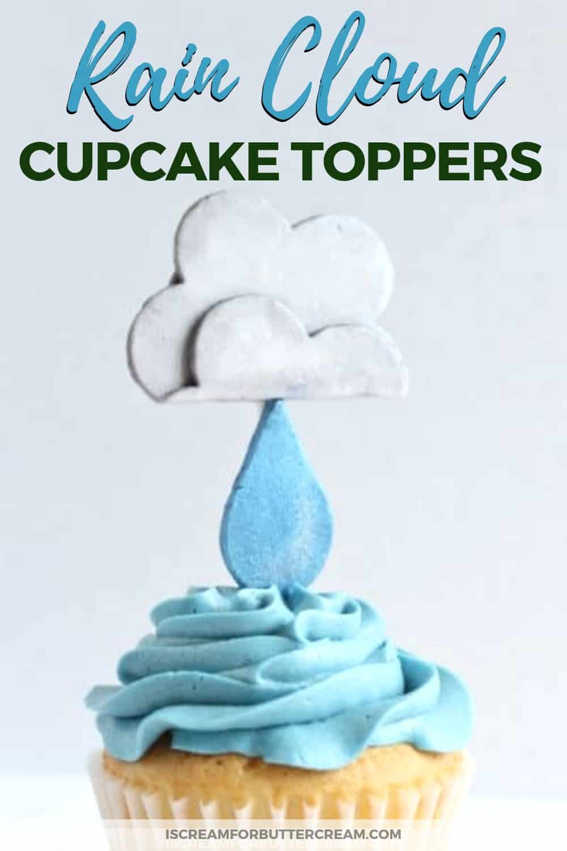Rain Cloud Cupcake Topper Tutorial Pinterest Graphic