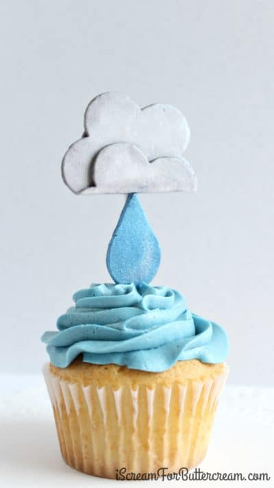 Rain Cloud Cupcake Topper