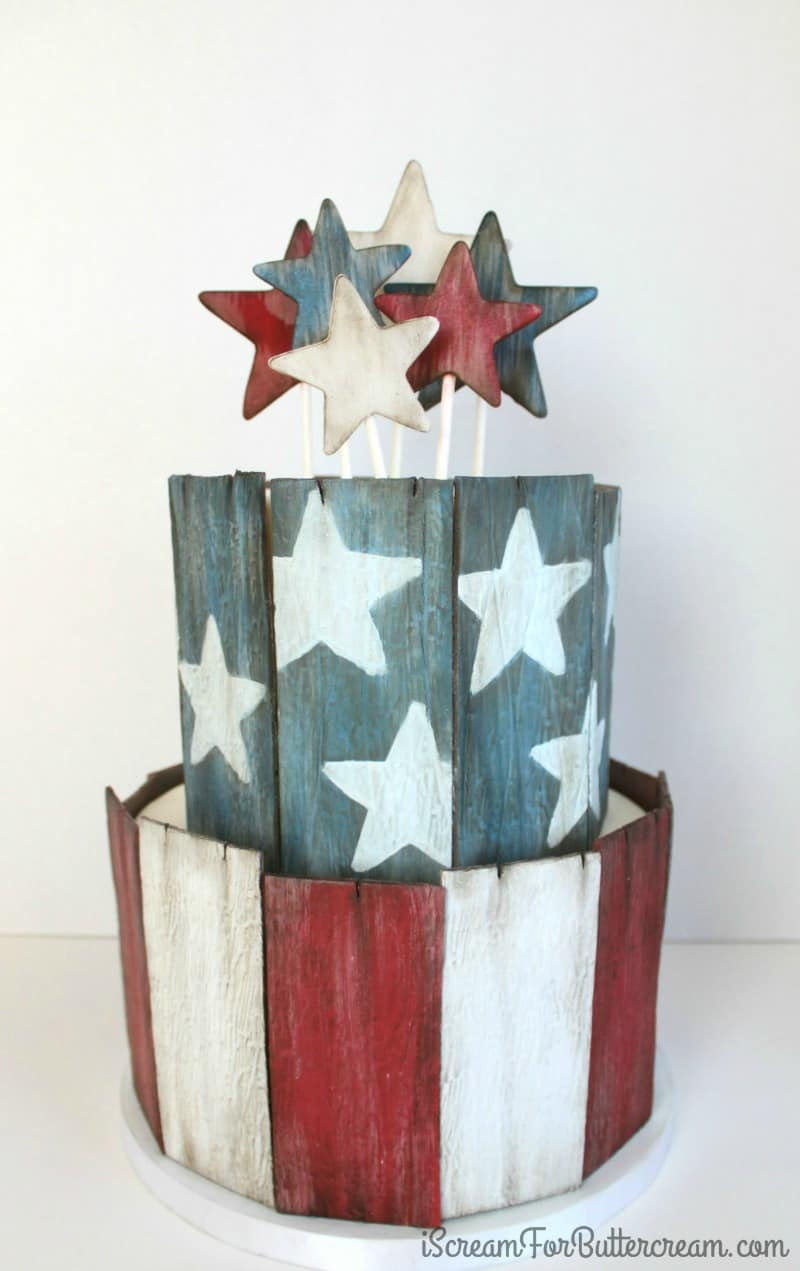 Rustic 4th of July Cake Tutorial
