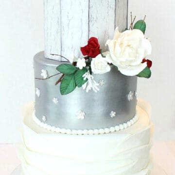 rustic silver cake featured image