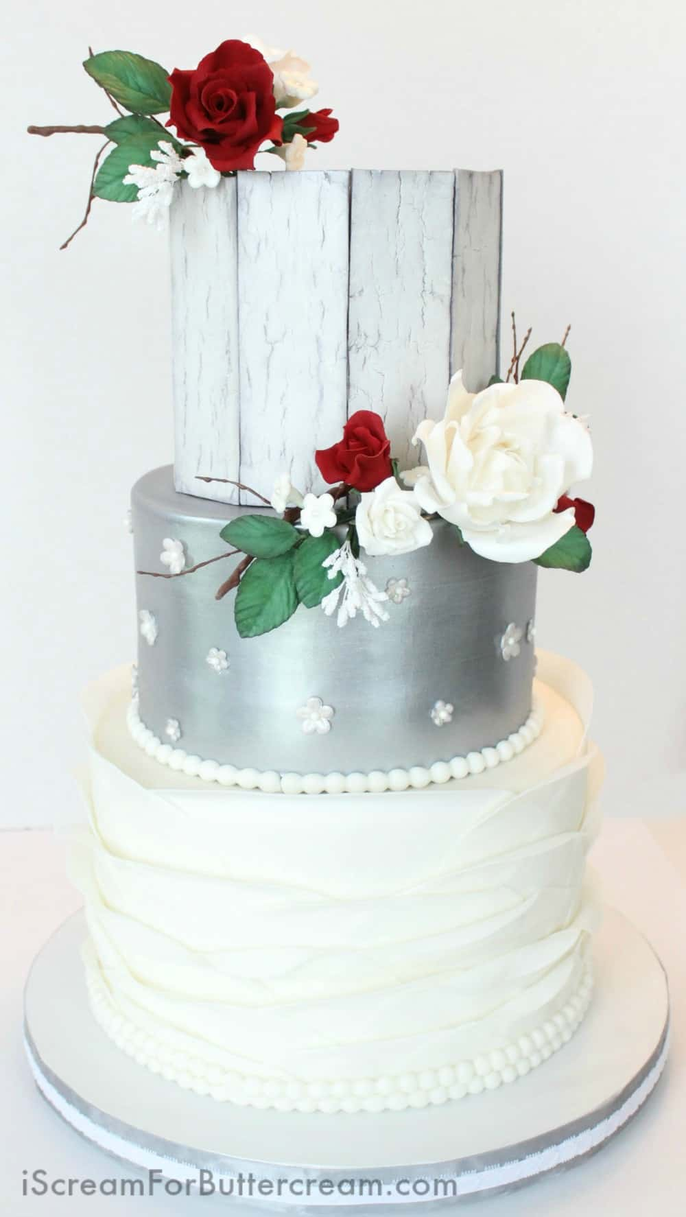 red silver wedding cakes rustic silver wedding cake i scream for buttercream 19153