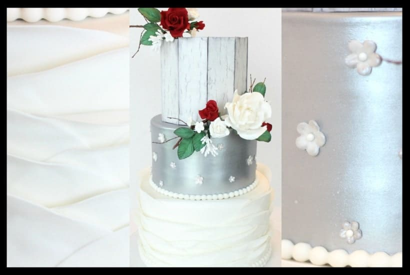 Elegant and Rustic Silver Wedding Cake Tutorial