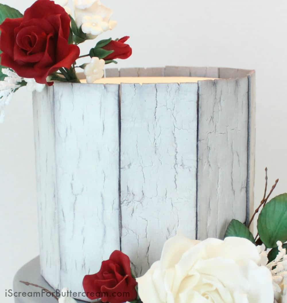 Rustic Wood Fondant Panels