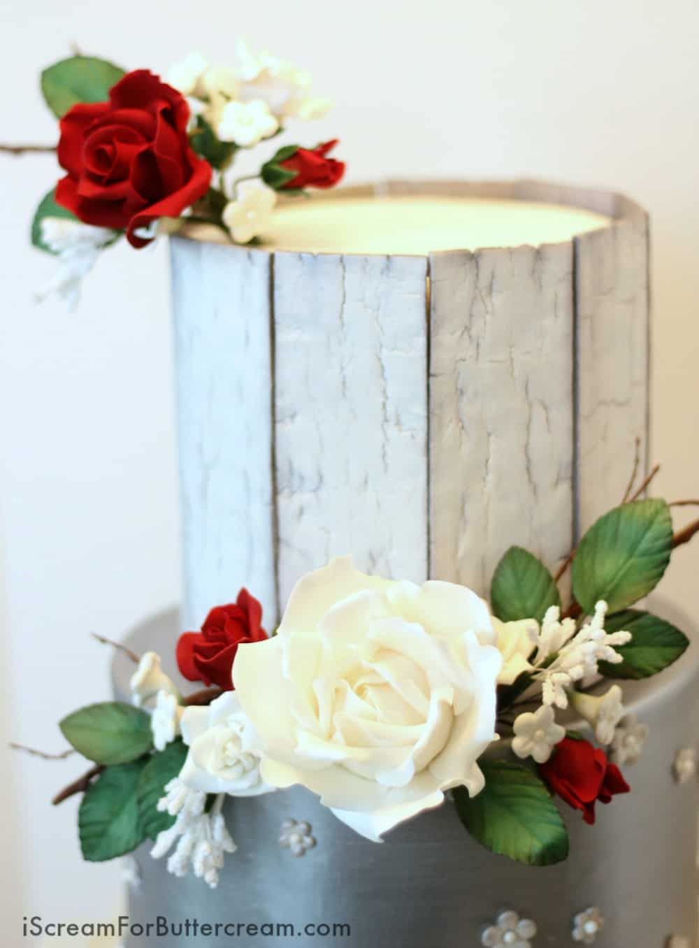 Rustic Wedding Cake Top Tier