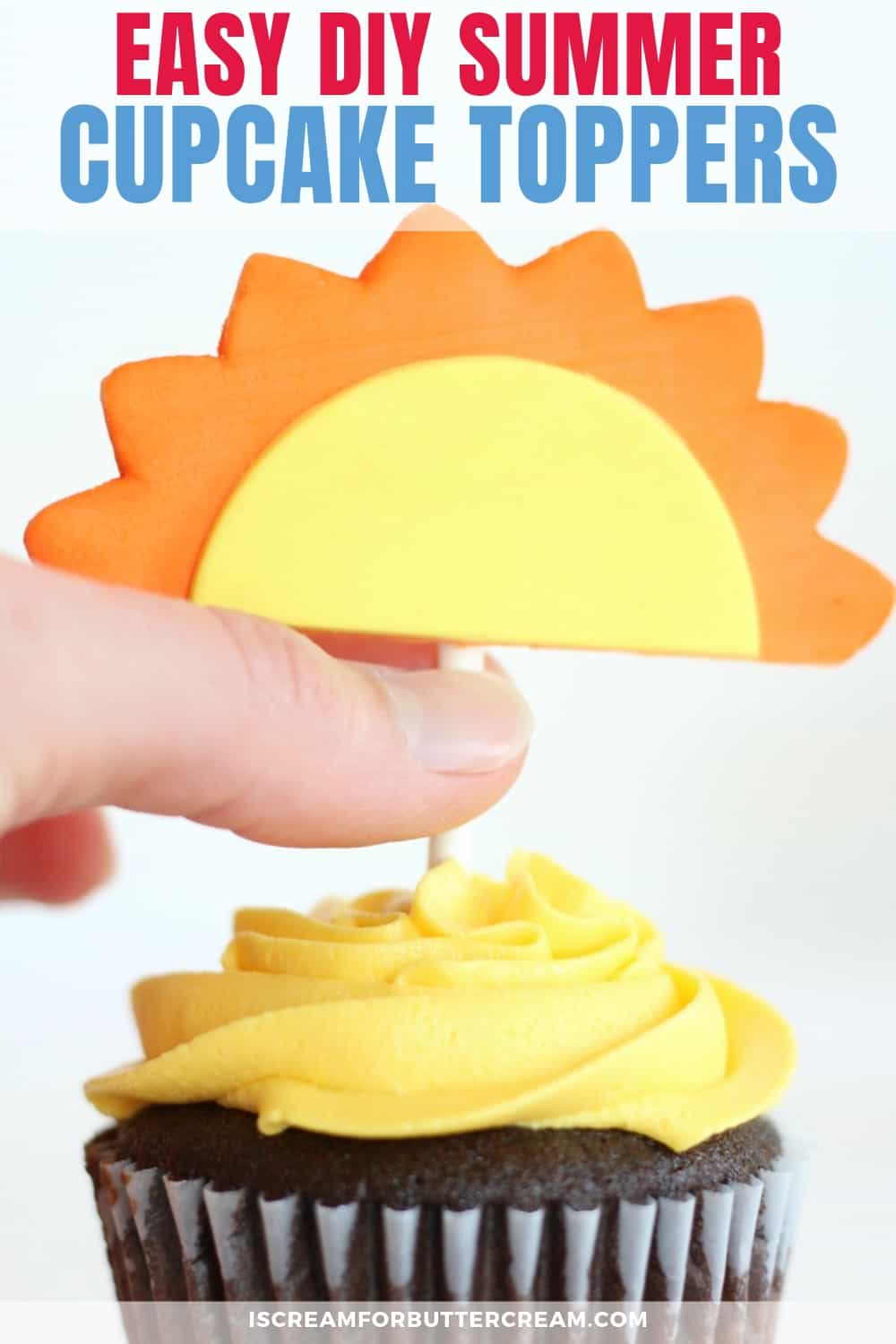 DIY Summer Cupcake Toppers new pin graphic 1