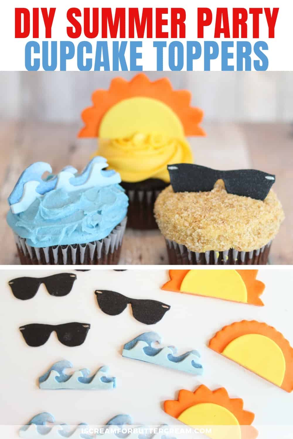DIY Summer Cupcake Toppers new pin graphic 2