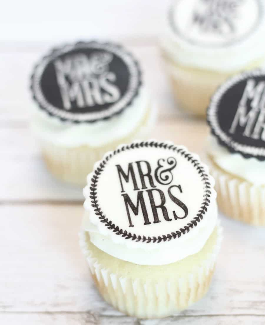 Easy Edible Wedding Cupcake Toppers I Scream For Buttercream