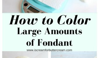 Easy Way to Color Large Amounts of Fondant