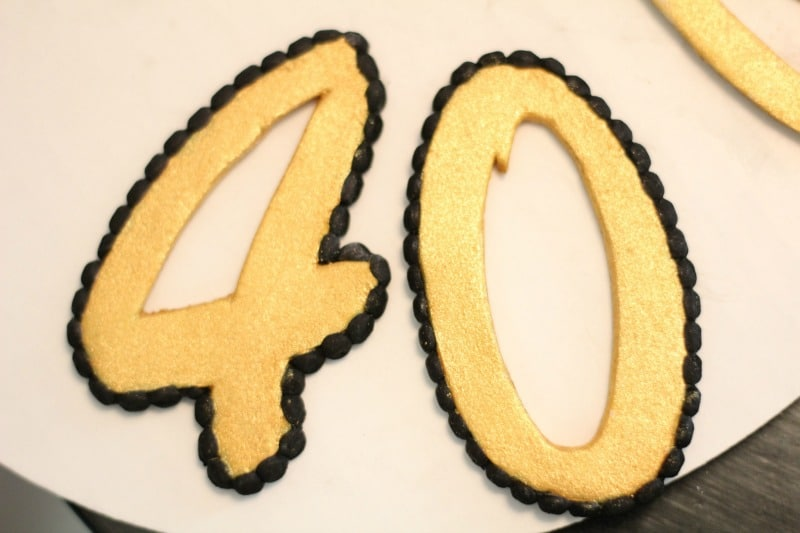finished fondant numbers