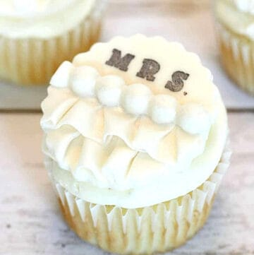 wedding shower cupcakes featured image