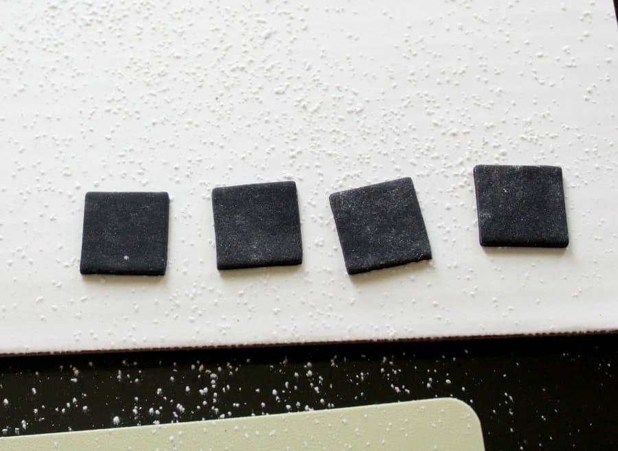 Black Fondant Squares