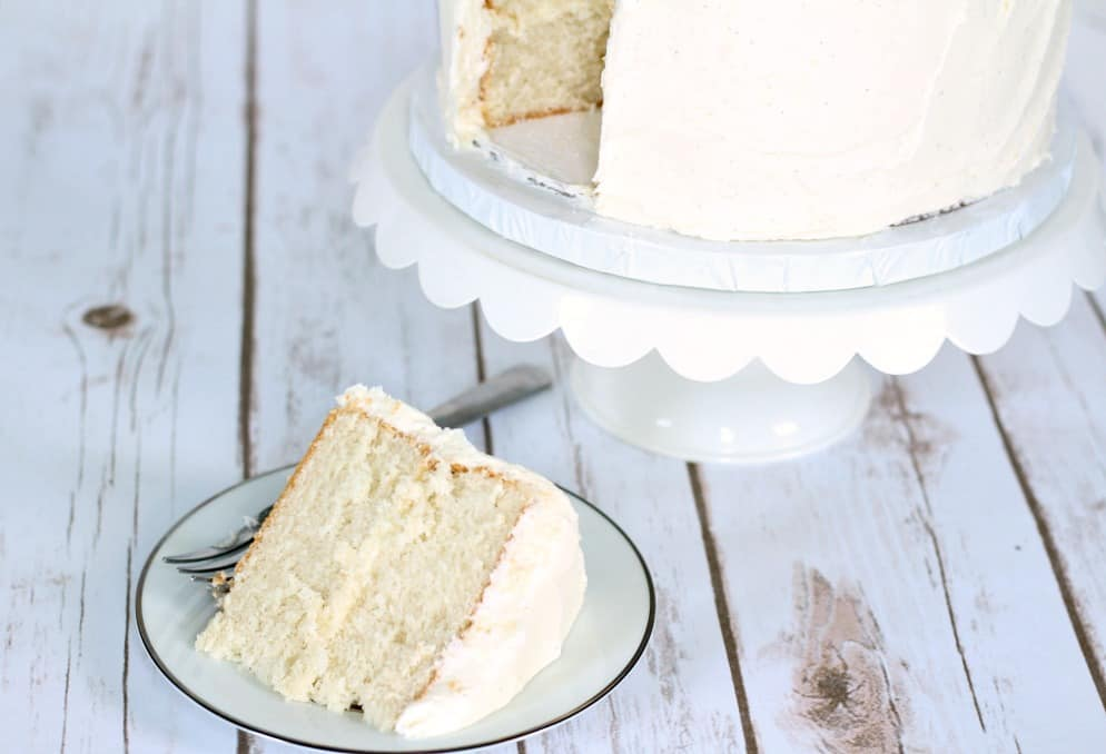 Easy White Sour Cream Cake