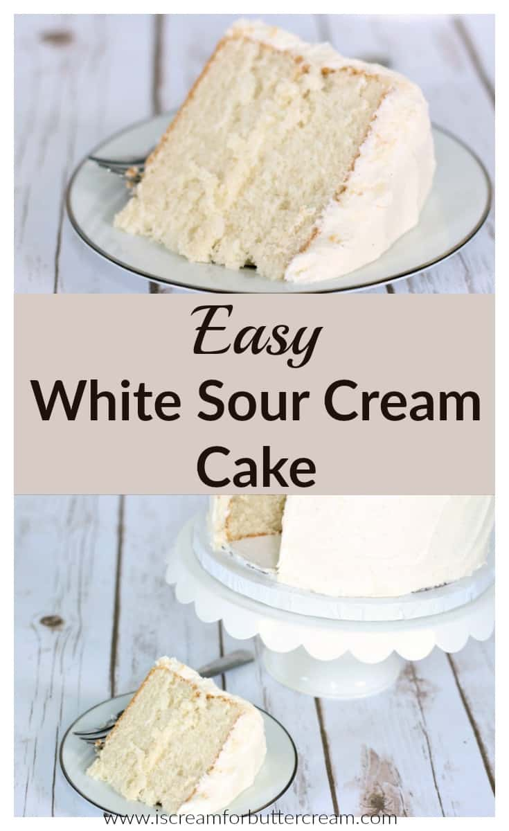 Easy White Sour Cream Cake