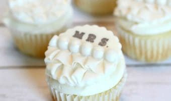 Edible Bridal Shower Cupcake Toppers