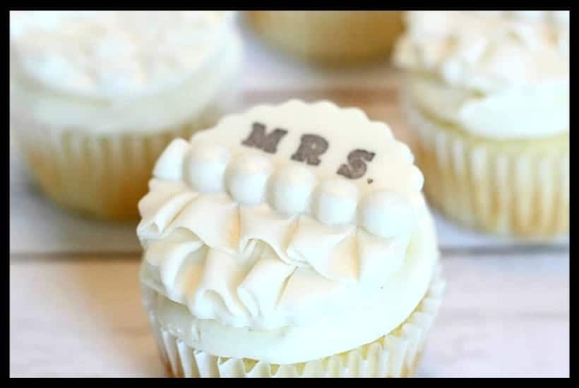 Edible Bridal Shower Cupcake Toppers Featured Image