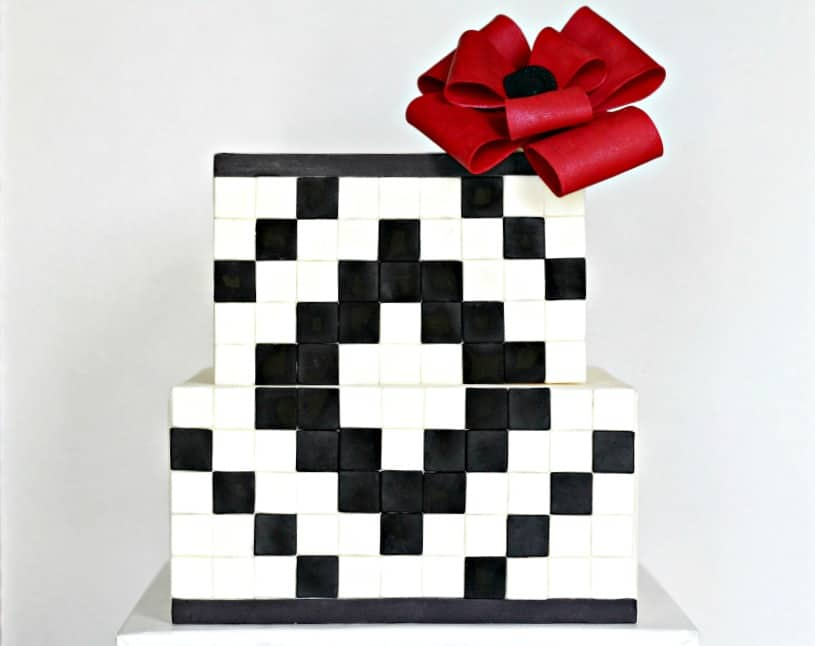 Black and White Geometric Cake Tutorial
