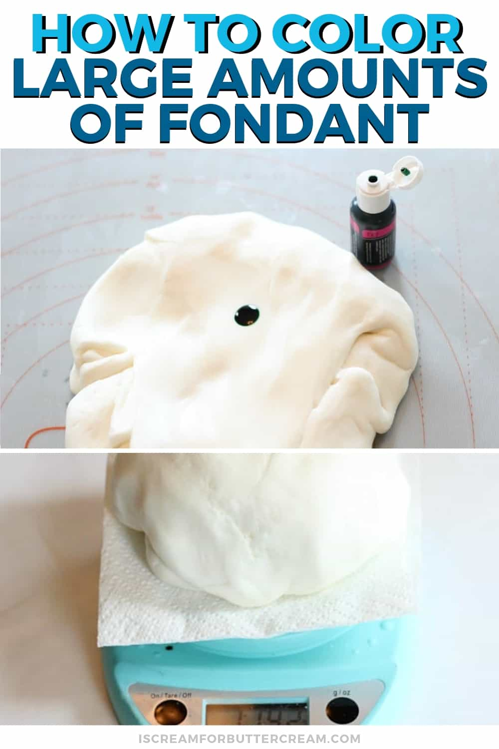 How to Color a Large Amount of Fondant New Pin 2