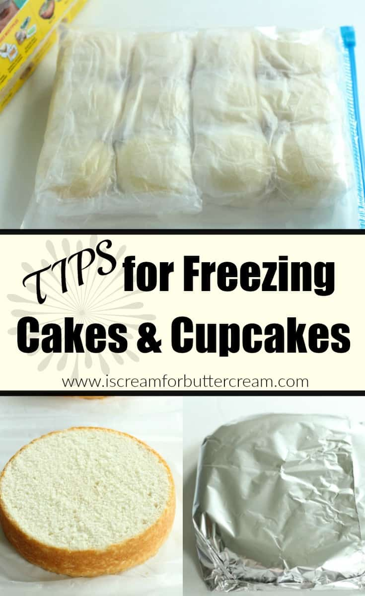 I love freezing cakes and cupcakes. I actually think they taste better and are more moist when they're frozen first. Here's how I do it. #freezingcakes #freezingcupcakes #bakinghacks
