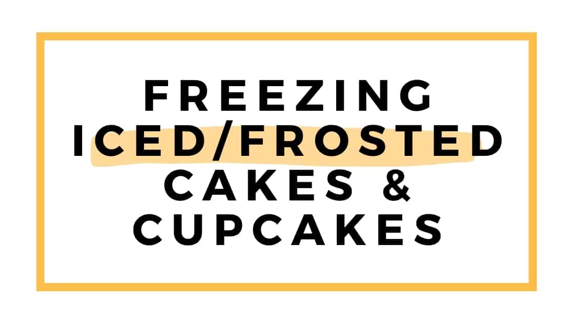 freezing iced cakes and cupcakes graphic