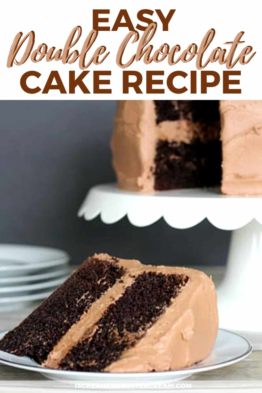 Easy Double Chocolate Cake New Pin 2