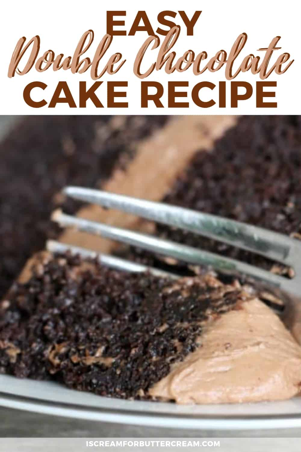 Easy Double Chocolate Cake New Pin 3