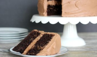 Easy Double Chocolate Sour Cream Cake