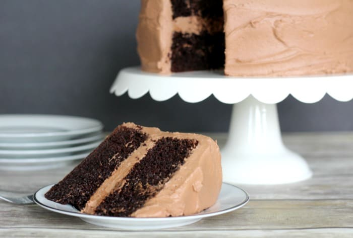 Easy Double Chocolate Sour Cream Cake
