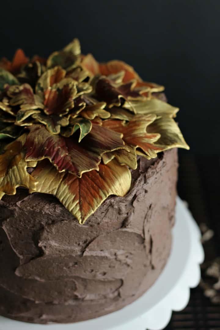 Gilded Leaf Cake 2