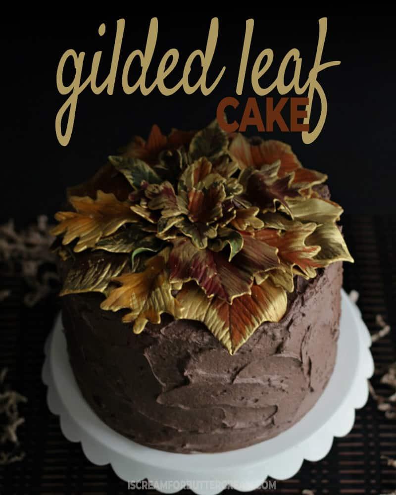 Gilded Leaf Cake Blog Title Graphic