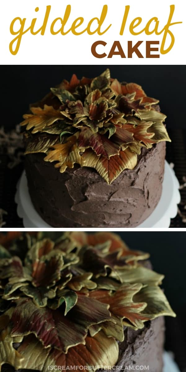 Gilded Leaf Cake Pin Graphic