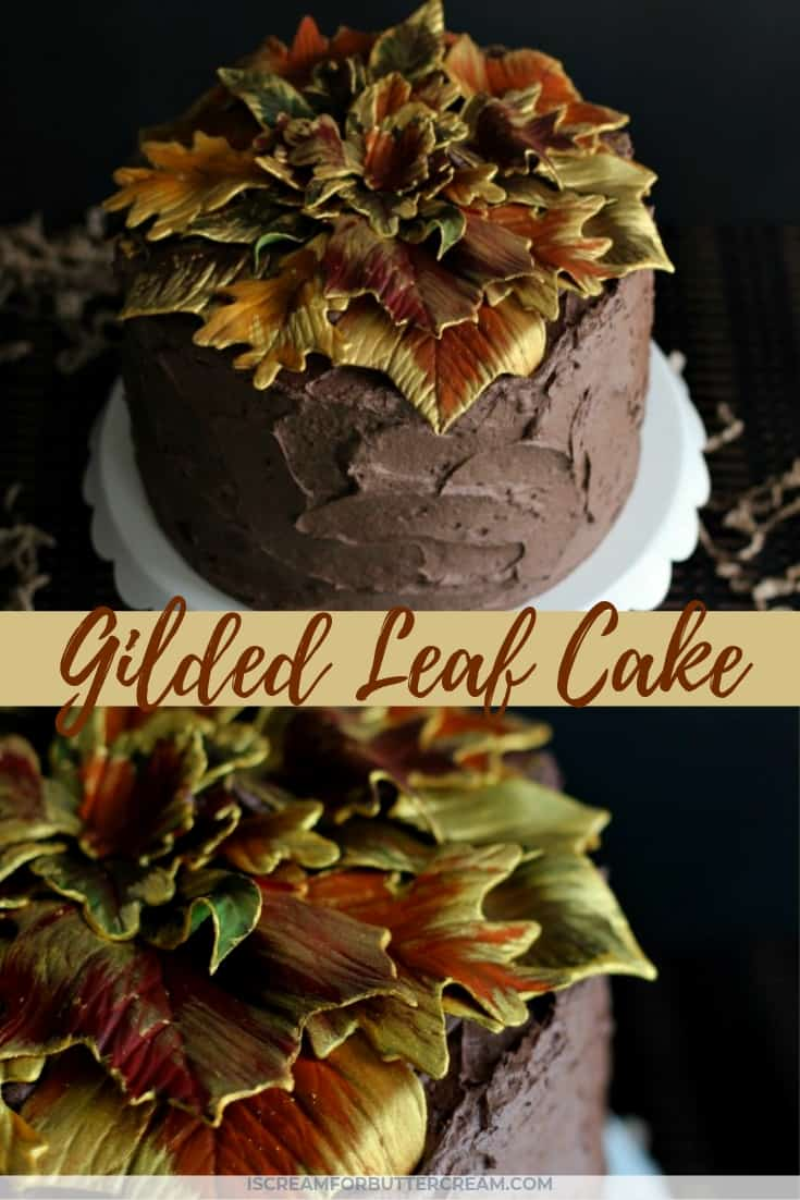 Gilded Leaf Cake Pin Graphic 5
