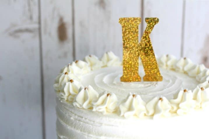 Initial Cake Top View