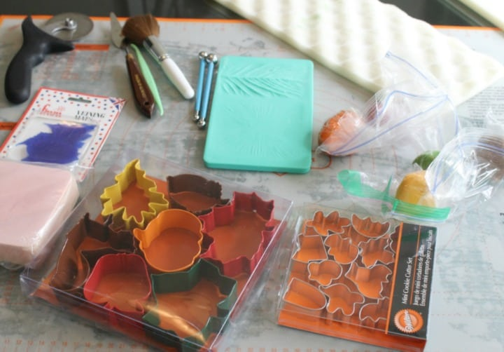 Supplies for the Gilded Leaf Cake
