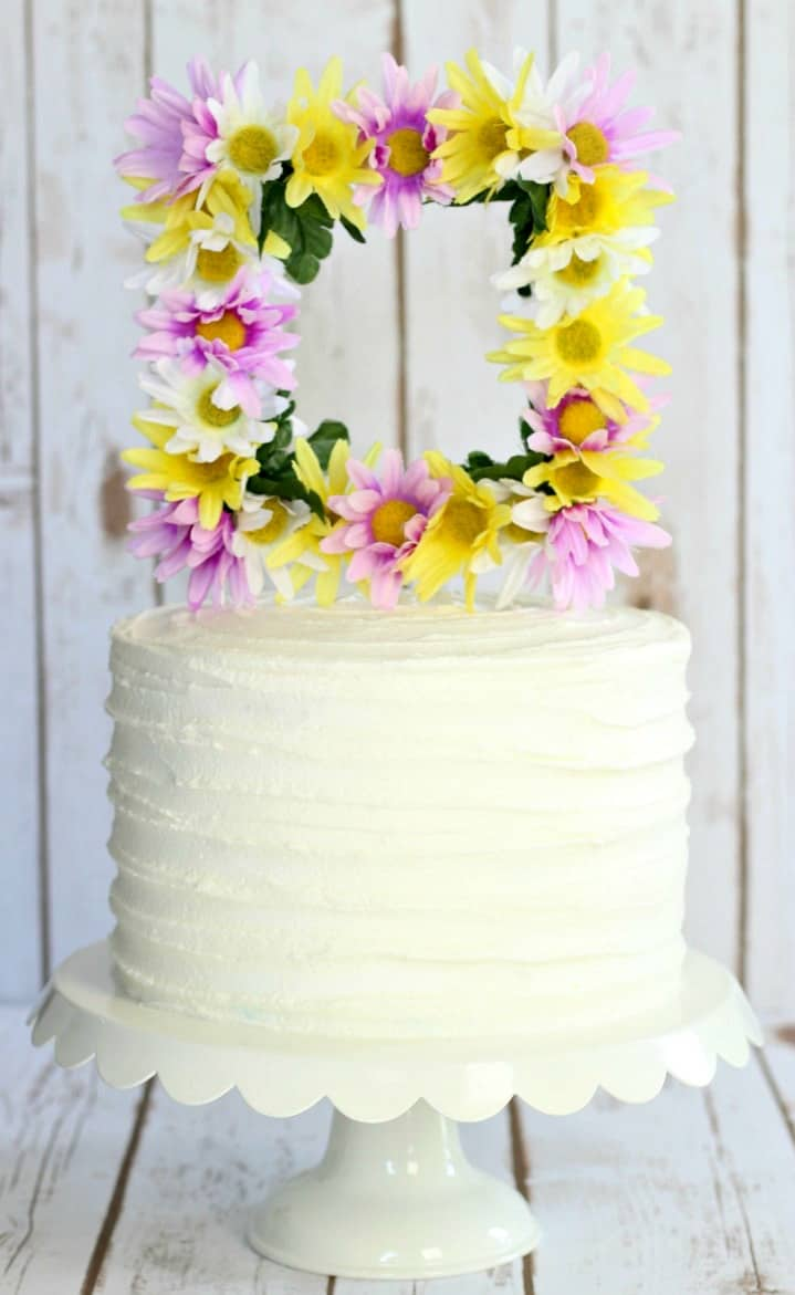 Floral Frame Cake Topper