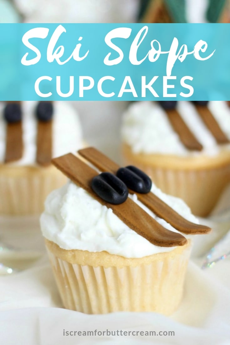 Ski Slop Cupcakes Pin