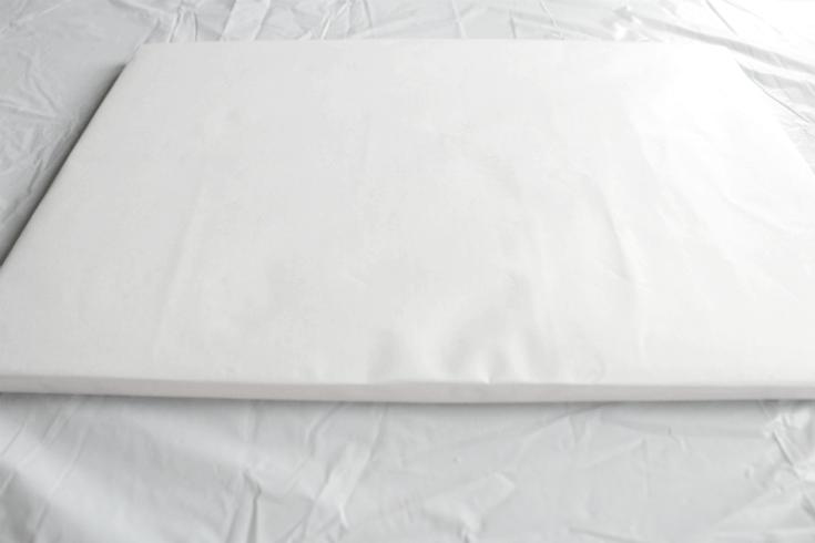 covered square cake board