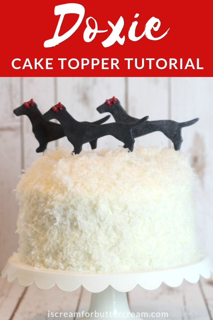 Doxie Cake Topper Tutorial Pin