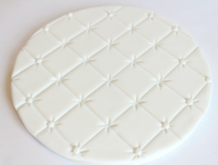 Quilted Fondant Cake Board
