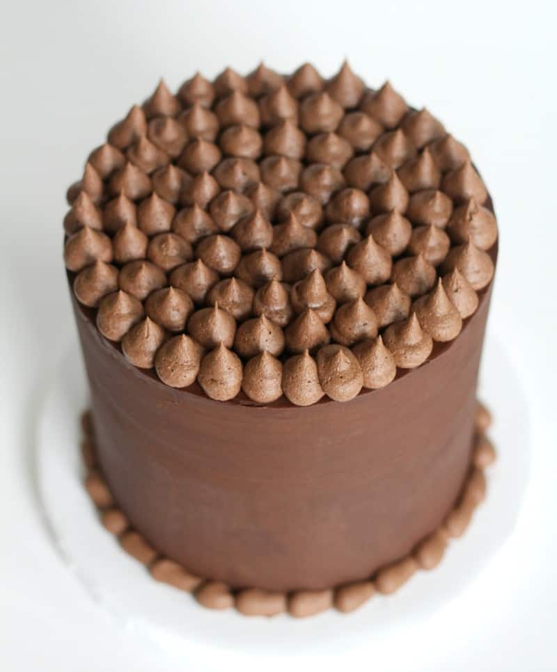 Whipped Ganache on top of cake