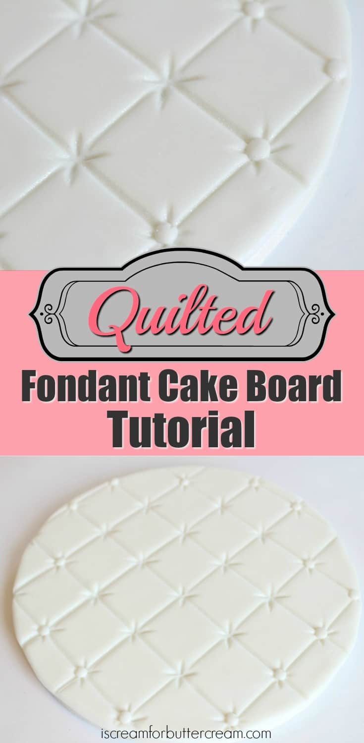 Quilted Fondant Cake Board Tutorial