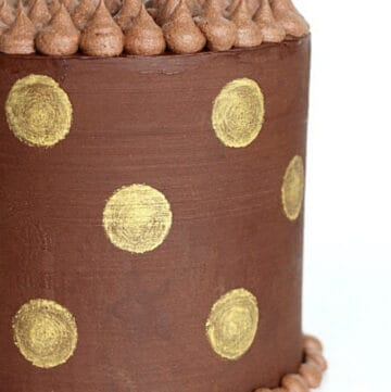 gold dot cake featured image