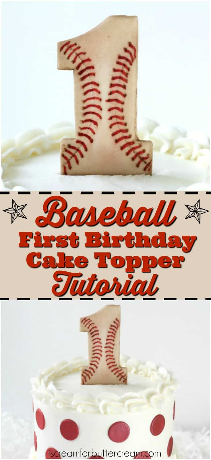 Baseball Cake Topper Pinterest