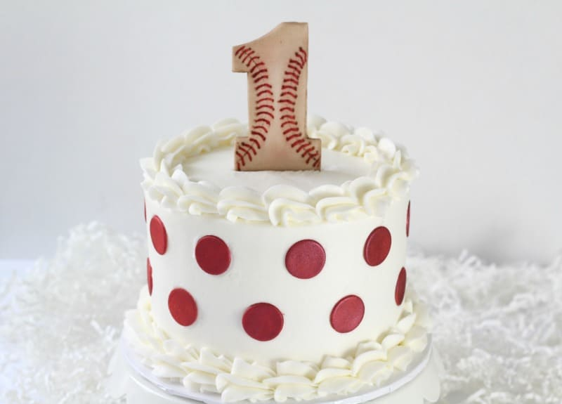 Baseball Cake Topper on cake