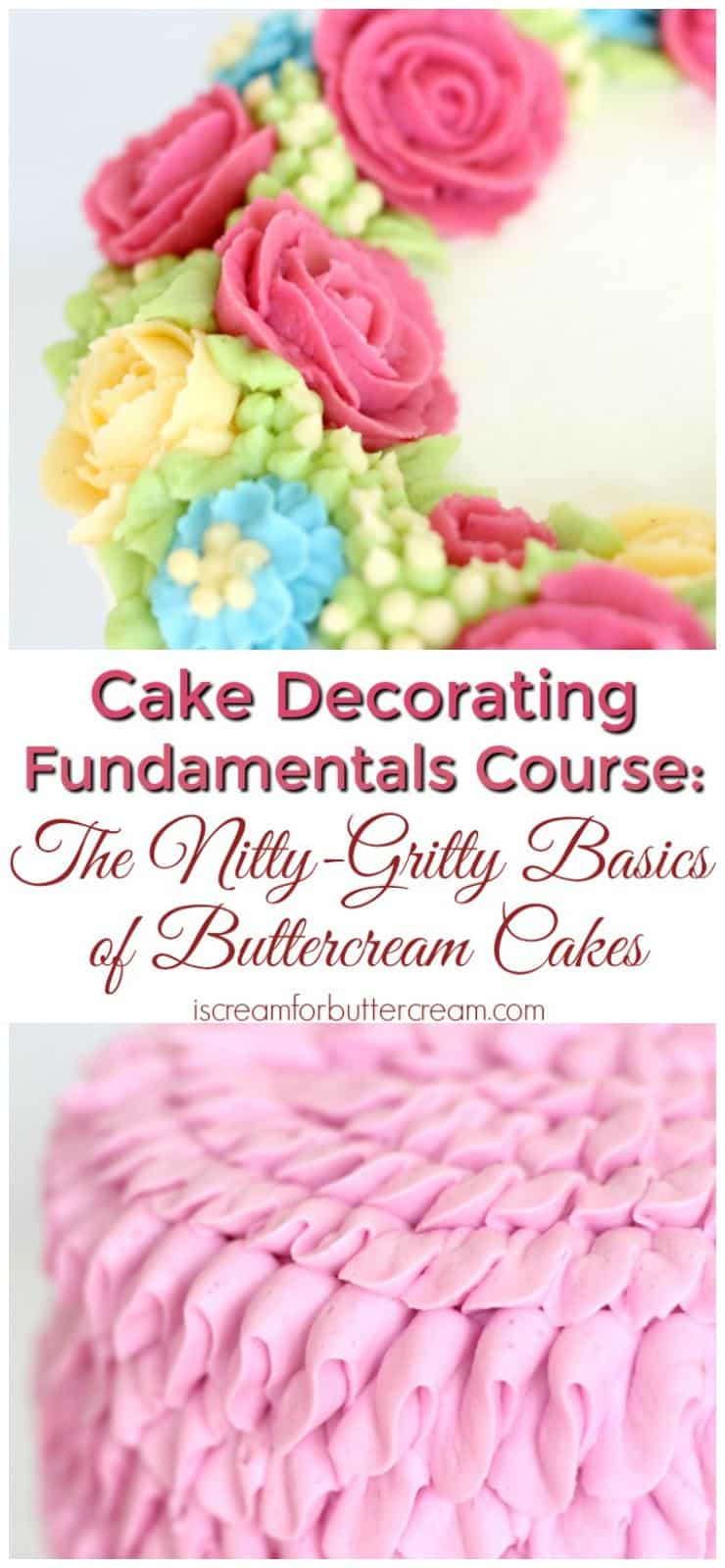 Cake Decorating Fundamentals Pinterest Graphic
