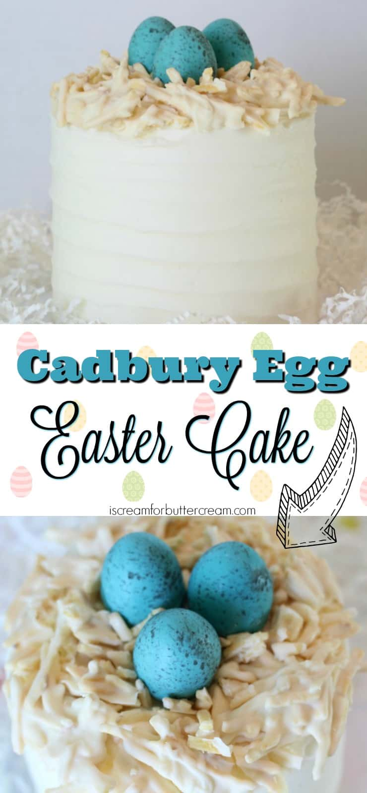 Cadbury Egg Easter Cake Pinterest Graphic