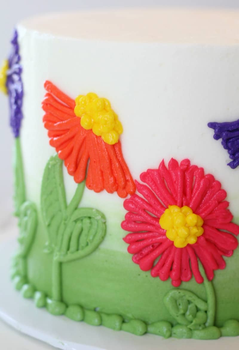Easy Buttercream Flower Cake I Scream For Buttercream