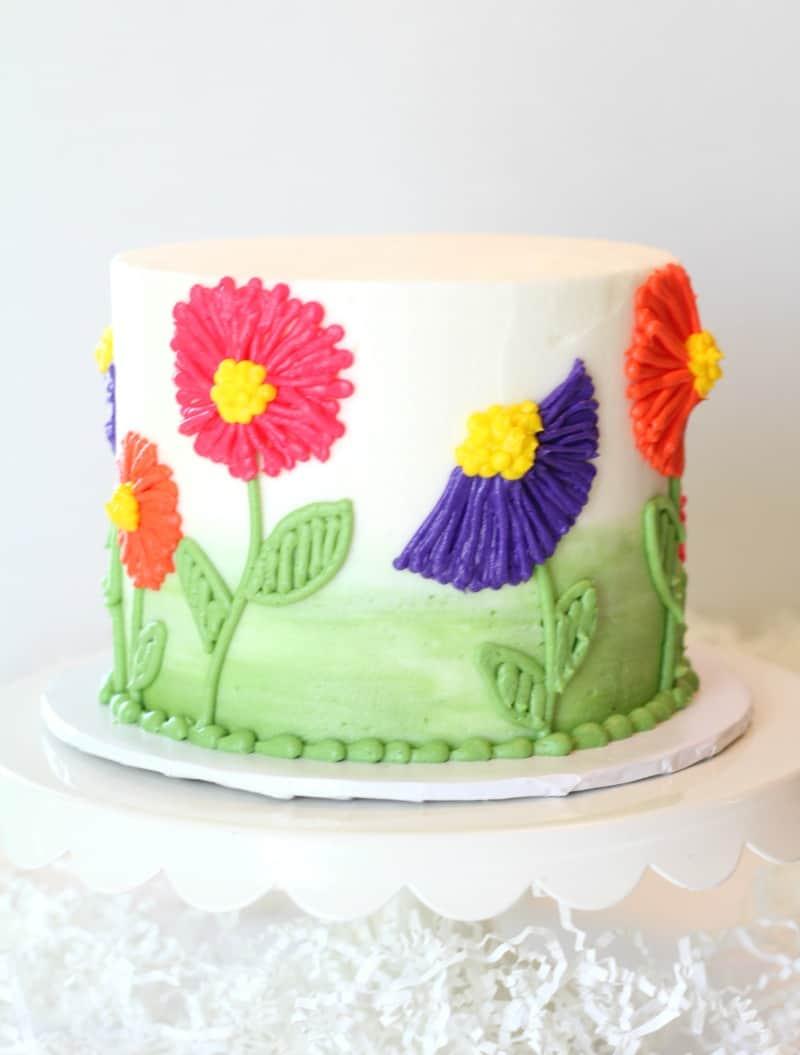 Easy Buttercream Flower Cake