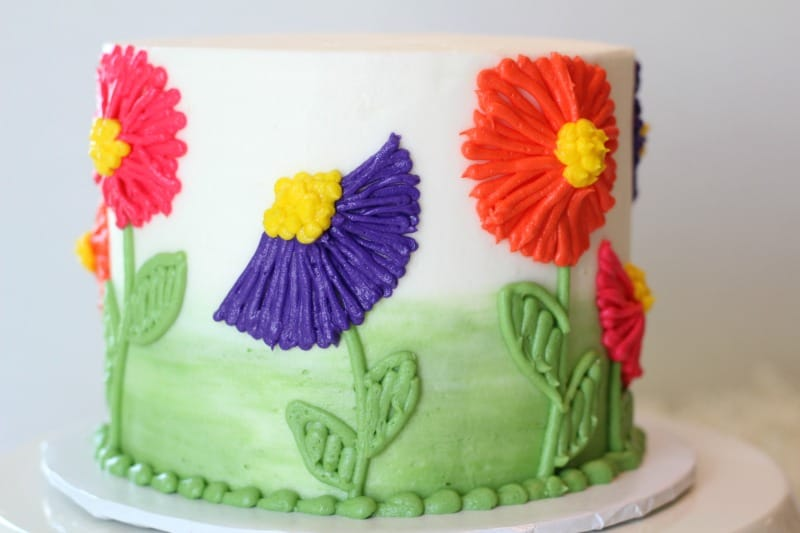 Easy Buttercream Flower Cake